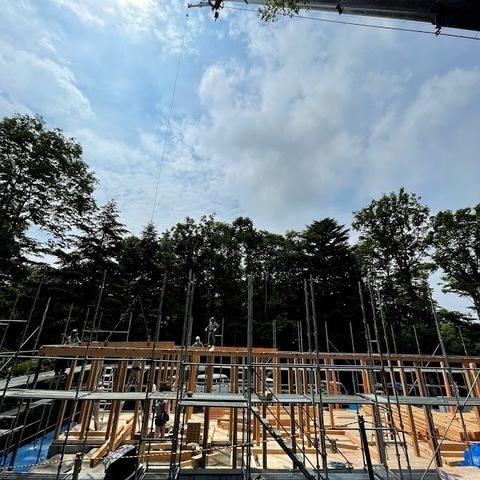 建て方 ~ 軽井沢Tさんの家サムネイル